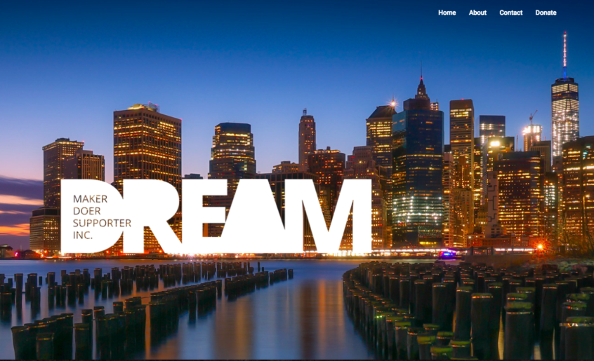 Home page of NYC nonprofit website sample.
